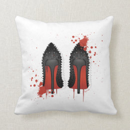 LOUBOUTIN spatters & drips Throw Pillow