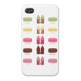 LOUBOUTINS AND MACARONS COVER FOR iPhone 4