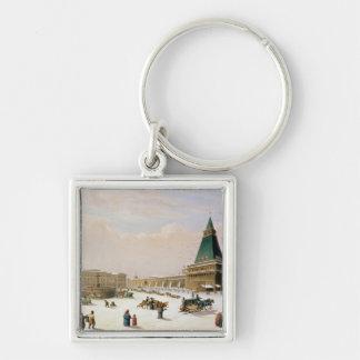 Loubyanska Square in Moscow Keychain