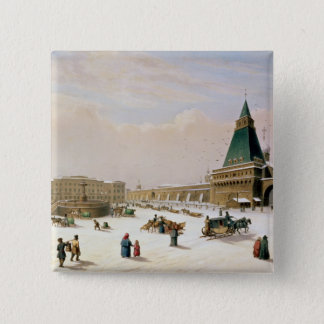 Loubyanska Square in Moscow Pinback Button