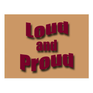 Loud and Proud redwave Postcard
