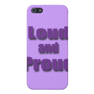 Loud and Proud violet Case For iPhone SE/5/5s