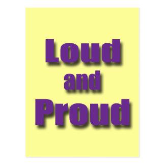 Loud and Proud violet Postcard