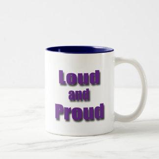 Loud and Proud violet Two-Tone Coffee Mug