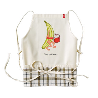 Loud Banana Who Loves Plaing The Drums Zazzle HEART Apron