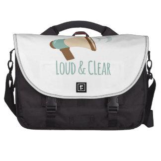 Loud & Clear Laptop Messenger Bag