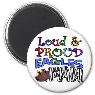 Loud Eagle Fan Zebra 2 Inch Round Magnet