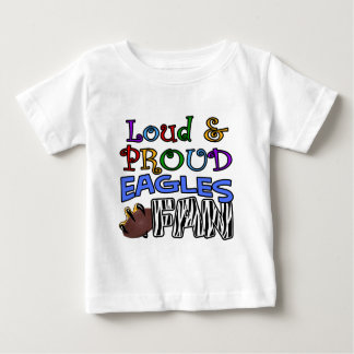 Loud Eagle Fan Zebra Baby T-Shirt
