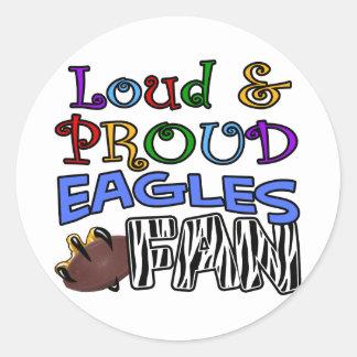 Loud Eagle Fan Zebra Classic Round Sticker