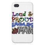 Loud Eagle Fan Zebra iPhone 4 Case