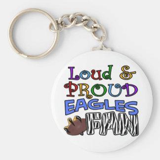 Loud Eagle Fan Zebra Key Chain