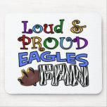 Loud Eagle Fan Zebra Mouse Pad