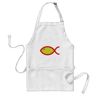LOUD Fish - Gold with Red Aprons