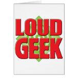 Loud Geek v2 Greeting Card