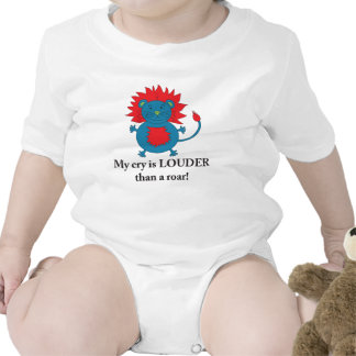 Loud Lion shirt for baby boys