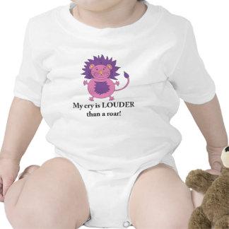 Loud Lion shirt for baby girls