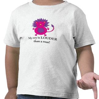 Loud Lion T-shirt for little girls