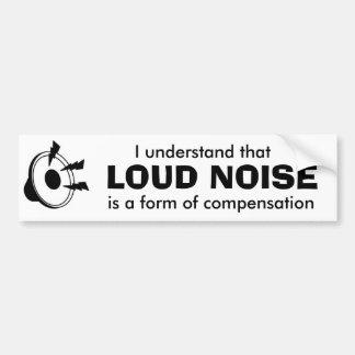 loud music car bumper sticker