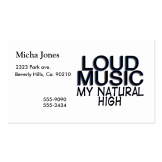 Loud Music Natural High Double-Sided Standard Business Cards (Pack Of 100)