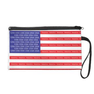 Loud & Proud American Flag Wristlet Purse