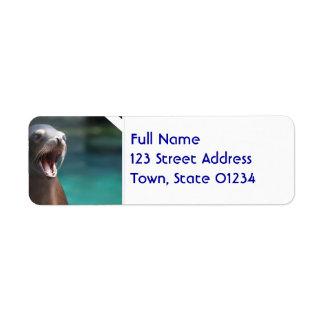 Loud Sea Lion Return Address Label