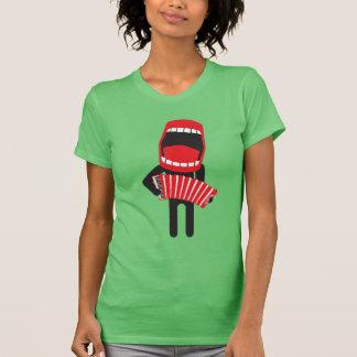 loud singing accordion player ♫ T-Shirt