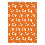 Loud Speaker orange Card