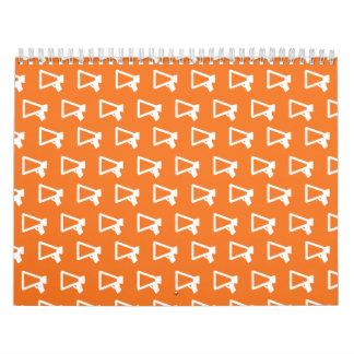 Loud Speaker orange Calendar