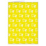 Loud Speaker yellow Greeting Cards