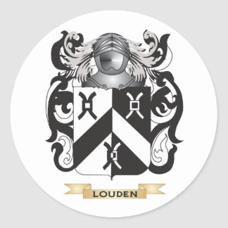 Louden Coat of Arms (Family Crest) Classic Round Sticker
