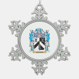 Louden Coat of Arms - Family Crest Snowflake Pewter Christmas Ornament