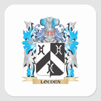 Louden Coat of Arms - Family Crest Square Sticker