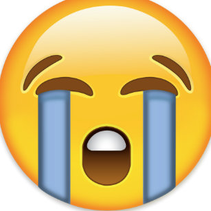sad face emoji kitchen dining supplies zazzle