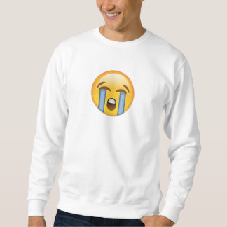 Loudly Crying Face Emoji Sweatshirt