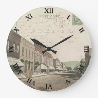 Loudonville Ohio Post Card Clock - 1909