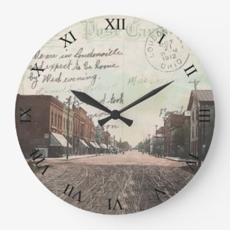 Loudonville Ohio Post Card Clock - 1912