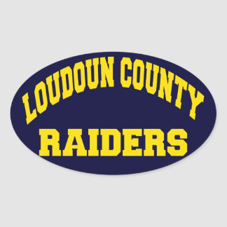 Loudoun County Raiders Oval Sticker