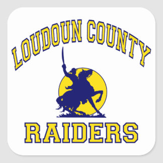 Loudoun County Raiders Square Sticker