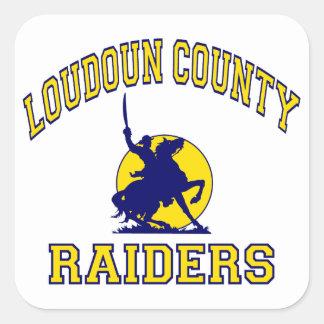 Loudoun County Raiders Square Sticker