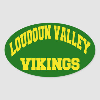 Loudoun Valley Vikings Oval Sticker