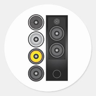 Loudspeaker Classic Round Sticker