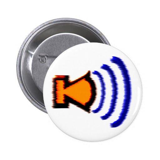 Loudspeaker more speaker pinback buttons