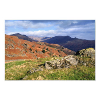 Loughrigg Fell Vista, The Lake District Photo Print