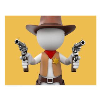 Loui white sheriff tarjeta postal