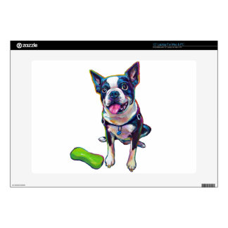 "Louie the Boston Terrier 15"" Laptop Skins"