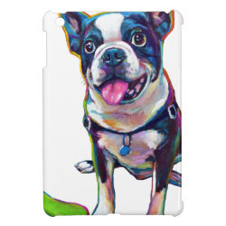 Louie the Boston Terrier iPad Mini Cases