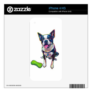 Louie the Boston Terrier Skin For iPhone 4