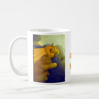 Louie the Ginger Cat as Captain Me-Ow Classic White Coffee Mug