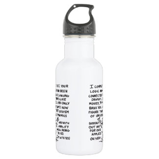 Louis and Universal Dynamics 18oz Water Bottle