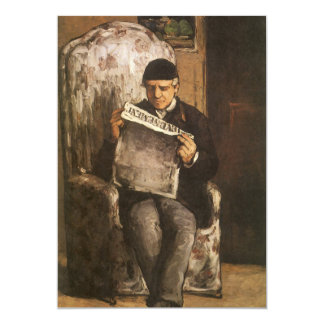Louis Auguste Cezanne Father Of The Artist Reading Card